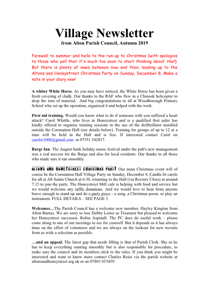 Autumn Newsletter p 1 & 2